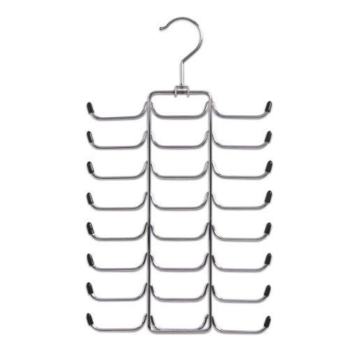 Zeller 17147 Krawatten-/Gürtelhalter, Metall verchromt, L 21 x H 40 cm