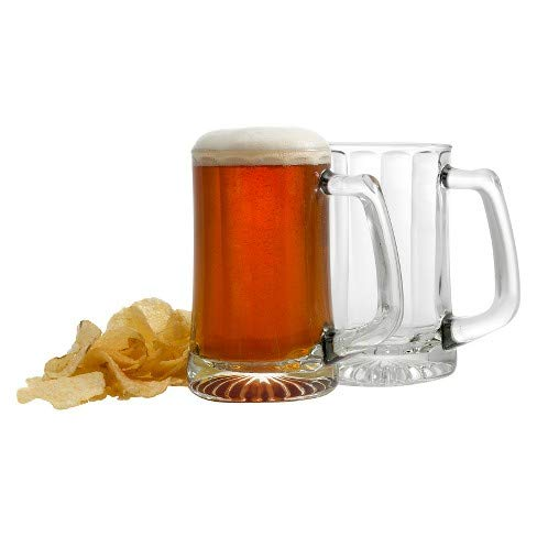 Luminarc Arc International Beer Glass, 14oz Set of 4, With Handle