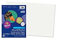 Pacon SunWorks Construction Paper 12-Inches by 18-Inches 50-Count White (9207) [並行輸入品]