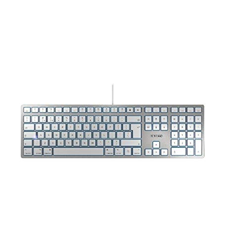 CHERRY KC6000 Slim for MAC - Corded Keyboard - USB - Silver (US-International), KC 6000 Slim