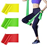 HAIBEI Resistance Bands Elastic Exercise Bands 3 Pack Physical Therapy Tension Band Recovery Band Workout Strength Training Bands for Women, Yoga, Arms,Upper Body and Shoulders (Red Yellow Green)