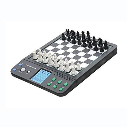 DEF Set Smart Chess Set Electronic Chess Board Man-Machine Game, Puzzle Board Juego para Adultos y niños