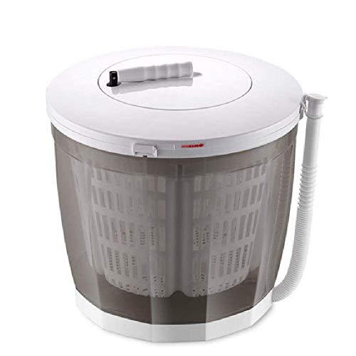 WYJW 2-in-1 Mini-Waschmaschine und Schleudertrockner Tragbare manuelle Waschmaschine Handkurbeln Doppelwaschzyklen Kompaktes Design Doppelgriffpulsator Für Wohnung, Hotel, Wohnheim, Gra
