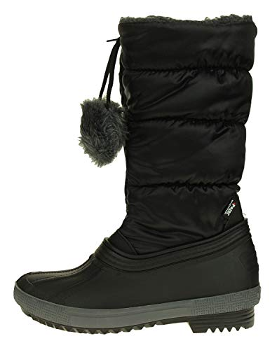 Price comparison product image PAJAR Girl's Kid and Toddler Fay Winter Boot,  Black,  4 US Big Kid