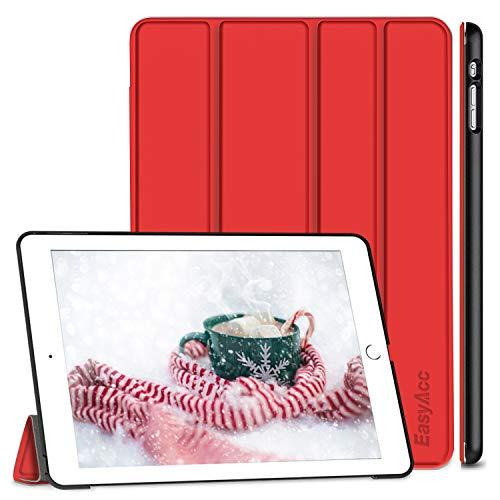 EasyAcc Hülle für iPad Air, Ultra Slim Hülle Hülle Schutzhülle PU Lederhülle mit Standfunktion/Auto Sleep Wake Up Funktion Kompatibel für iPad Air 2013 (Modellnummer A1474 A1475 A1476) - Rot