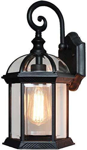 Lámpara de pared de sala de estar retro europea pasillo luces LED minimalistas luces de pasillo de balcón al aire libre impermeables 24 * 25 * 46 cm