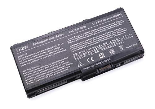vhbw Akku für Toshiba Dynabook Qosmio & Satellite wie X500, X505, P500, P505- Serie, G60, G65, 90LW, 97K, 97L Notebook Laptop - Li-Ion, 8800mAh, 10.8V