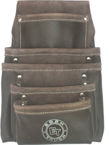5 Pocket Oil Tanned Leather Nail and Tool Pouch Bag