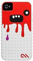 Case-Mate 日本正規品 iPhone 4S / 4 CREATURES: Monsta Case, White / Red クリーチャーズ モンスタ シリコン ケース, ホワイト / レッド CM015462