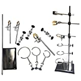 DOMINTY 60CM Laboratory Stands Support and Lab Clamp Flask Clamp Condenser Clamp Stands,Lab & Scientific...