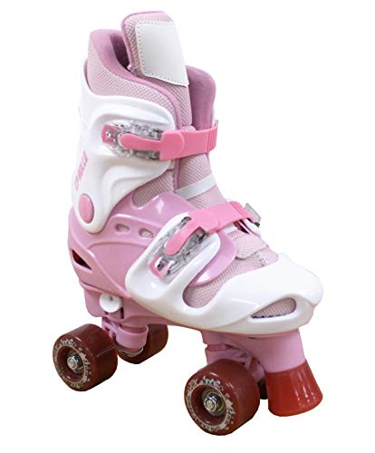 California Pro Rollo PG 4 Kinder Einstellbare Quad Rollschuhe Rosa rose 3 UK - 5 UK