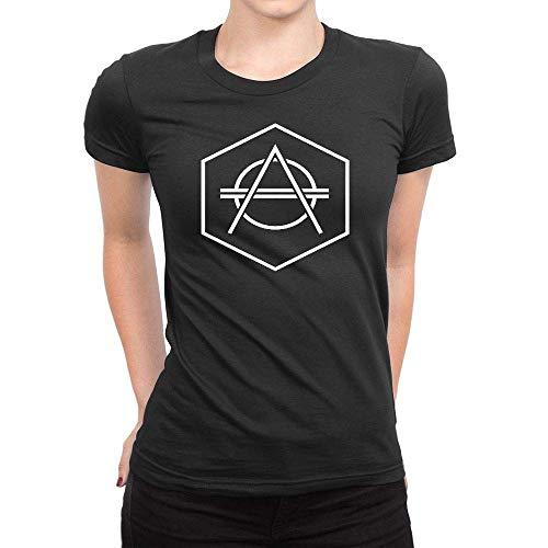 Women's Don Diablo Logo 2 Short Sleeve T Shirt,Black,Large