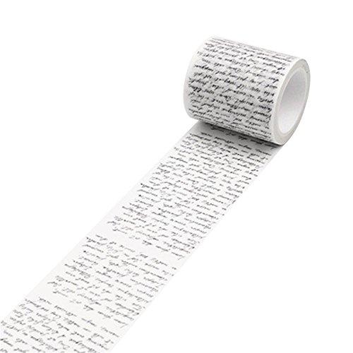 Bismarckbeer Adhésif Autocollant pour Scrapbook, ruban adhésif de masquage de papier DIY vintage washi. Taille unique Love Letter