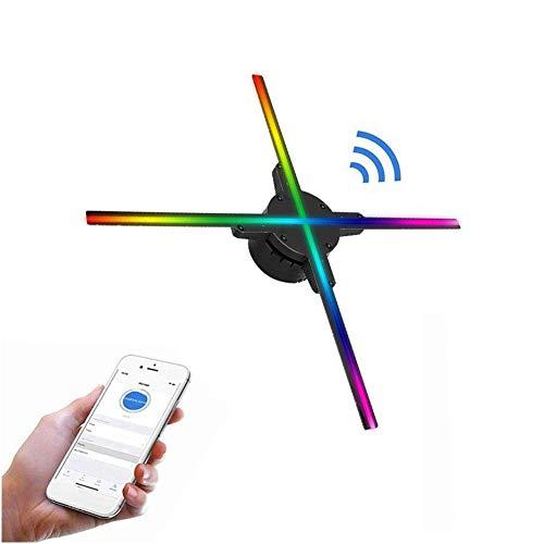 Wendry WiFi Proyector Holográfico 3D, 50 CM 4 Ejes Holograma Proyector Publicitario Teléfono Control, Holograma Proyector de Video