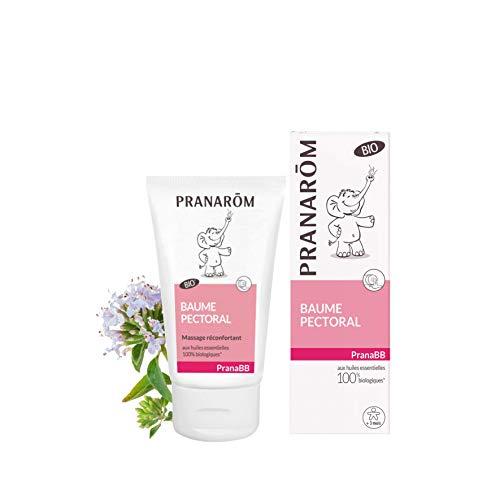 Pranarôm  Pranabb Baume Pectoral Bio (Eco) Aide bébé à mieux Respirer Composé d'Huiles Essentielles Pures et Naturelles 40 ml