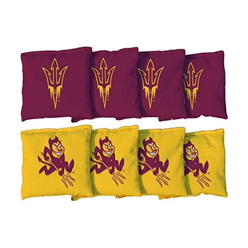 Victory Tailgate NCAA Collegiate Regulation Cornhole Game Bag Set (8 Bags Included, Corn-Filled) - Arizona State University Sun Devils