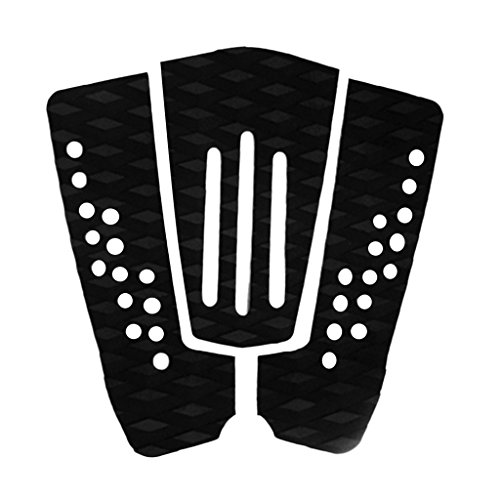 perfk 3 Piezas/Set Negro Unisex Surfboard Tail Pad Surf Sup Traction Deck Grip Shortboard Skimboard Surfing Accesorios