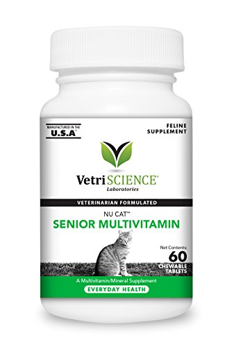 VetriScience Laboratories - NuCat Senior Multi Vitamin for Cats, 60 Chewable Tablets