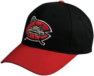 MiLB Minor League YOUTH CAROLINA MUDCATS Black/Red Hat Cap Adjustable Velcro TWILL
