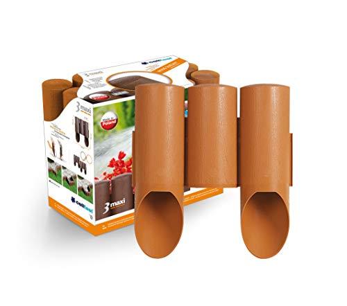 Cellfast Gartenpalisade, Rasenkante 3 MAXI holzdekor für eine einfache Zusammenstellung von mehreren Formen geeignet 24,2cm X 2,1m, 34-013