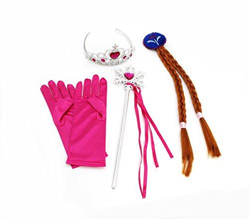 CoolChange Eiskönigin Kostüm Set für kleine Prinzessinnen, Anna