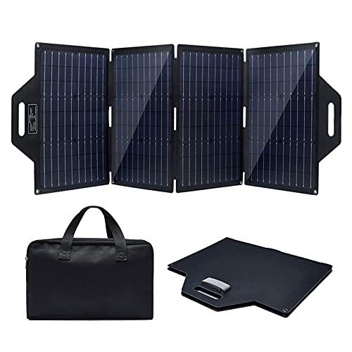 DTKJ PantalóN Solar Monocristalino PortáTil 100w, Cargador Solar, Panel Solar PortáTil, Fuente De AlimentacióN De Emergencia, Generador PortáTil, Recorrido De Camping Al Aire Libre