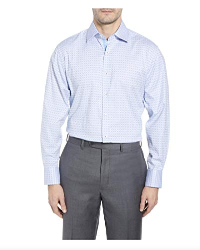 "English Laundry Men's Dress Shirt Stretch Cotton, Blue Sky Check, 15.5"" Neck 34""-35"" Sleeve"