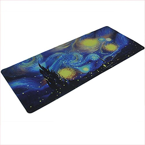 LIEBIRD Extended XXXL Gaming Mouse Pad - Dimension - Portable with Extended XXL Size - Non-Slip Rubber Base - Special Treated Textured Weave with Precision Control (Starry Night)