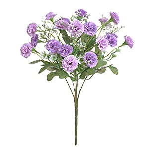 Silk Flower Arrangements NIKOLay Imitation Hydrangea Bouquet Romantic Artificial Lilac Flower Bride Wedding Decoration,Purple