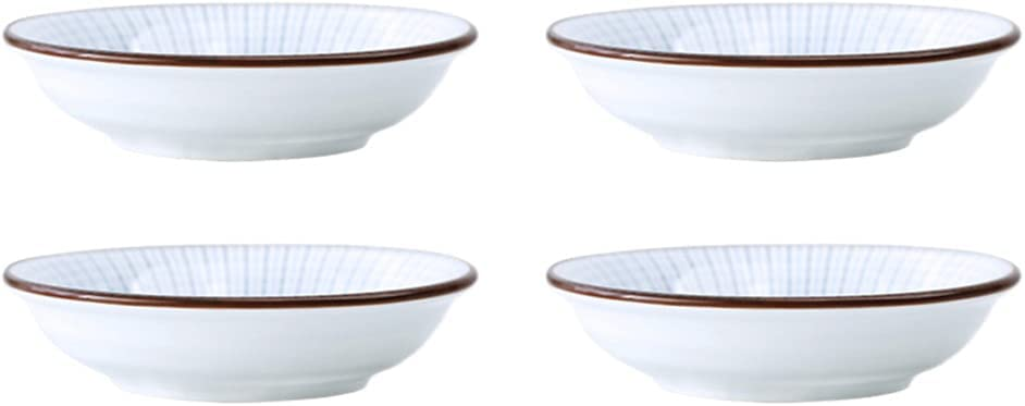 Cabilock 4Pcs Ceramic Sauce Max 72% OFF Dishes Japanese Dipping Soy Co Bowls Ranking TOP3