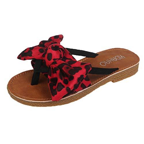 Dasongff stijlvolle sandalen, flip flops met luipaardpatroon strik 36-40