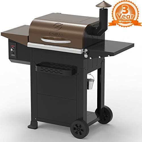 Z GRILLS ZPG-6002B 2020 New Model Wood Pellet Grill & Smoker, 6 in 1 BBQ Grill...