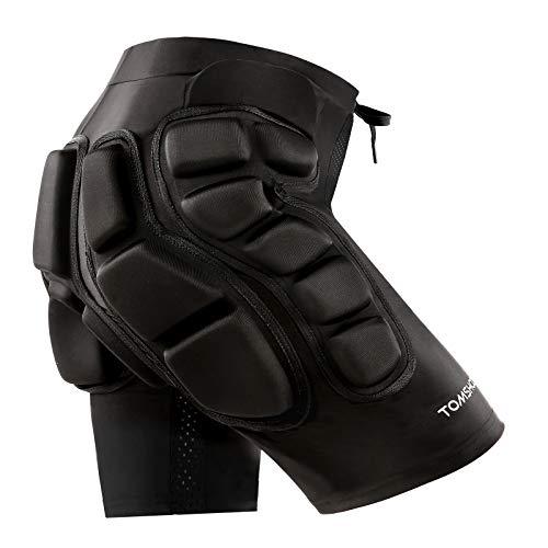TOMSHOO Protektorhosen Schutzhosen Gepolsterte Schutz Shorts Hip Butt mit Eva Pad Kurze Unterhose 3D Gepolstert Schutz fr Ski Skifahren Skating Snowboard