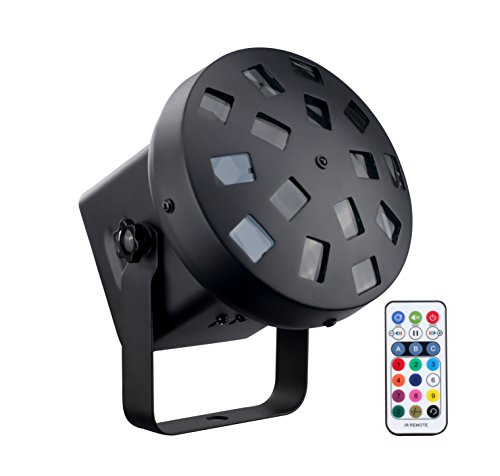 DragonX LED Tri Color Mushroom Stage Effect DJ Strobe Light(IR Remote Controller included) Professional Lighting for Home Parties Disco Club and KTV