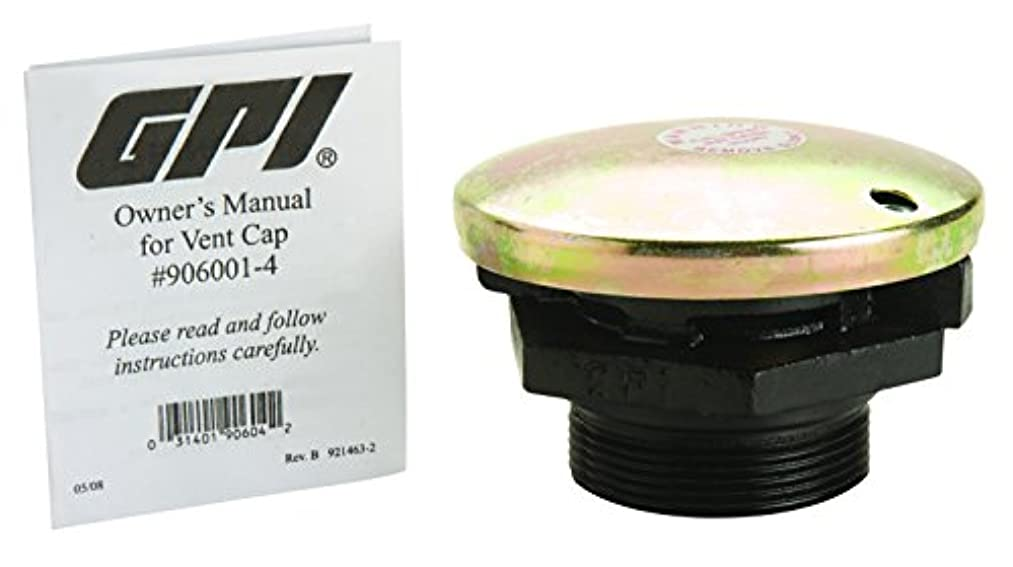 GPI 906001-4, Pressure Vent Cap with 2-Inch NPT Cast Iron Base for Vented Fuel Storage Tank, 3 PSIG Pressure Valve, 1 PSIG Vacuum Release, Up to 30 GPM