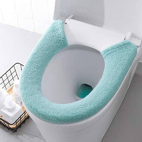 Deng Xuna WC-Sitzbezug Toilet Seat Pad Closestool Cover WC-Sitz Haushalts Winter Plüsch Weiche Toilettensitzauflage Abdeckungs Toiletten Sitzbezug WC-Sitzmatte, Waschbar (Grün)