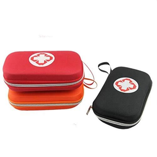 ZHFENG Kit de caja médica recorrido de coche Bolsa de primeros auxilios Pequeño supervivencia de la emergencia del recorrido portable al aire libre Herramienta de accesorios (Color : Red)