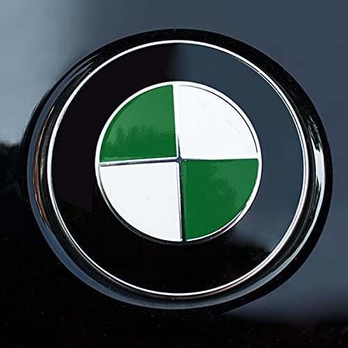 Generisch Emblema para capó, volante, portón trasero, 68 unidades, pegatinas para esquinas E92, E36, E46, 3, 5, 7 (verde)