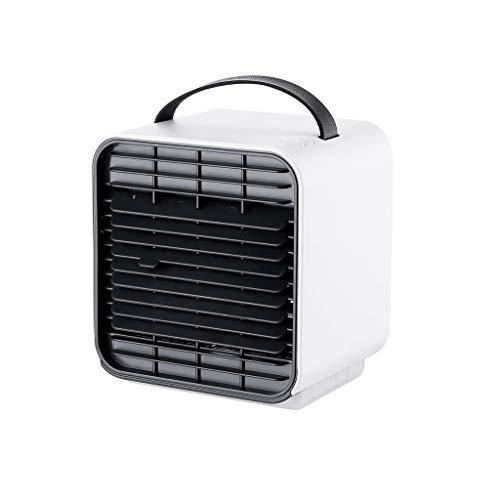 QJF-weegschalen Draagbare mobiele airconditioner mini luchtkoeler, low power ventilator met USB laadinterface, geschikt voor slaapkamer en kantoor.