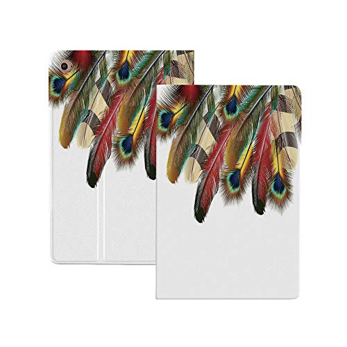 Peacock Case for New iPad Pro 11 Inch 2nd Generation 2020,Mystical Colorful Peacock Feathers Vibrant Universal Link Icons Bohemian Theme Folio Stand Case Smart Cover with Auto Sleep/Wake Supports iPad