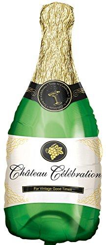"""Anagram Pallone Foil Supershape 36""""""""-91 cm Bottiglia Champagne, Multicolore"""