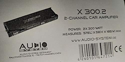 Audio System X-ION 280.2 - Amplificador estéreo para vehículos, negro