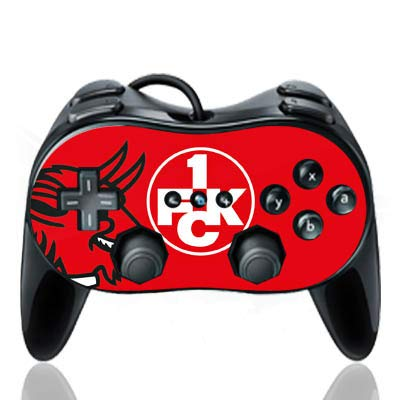 DeinDesign Skin kompatibel mit Nintendo Wii Classic Controller Pro Folie Sticker Teufel 1. FCK 1. FC Kaiserslautern