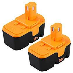 in budget affordable Fhybat for Ryobi 18V Battery Replacement ONE + P100 P101 ABP1801 ABP1803 BPP1820130224007 High…