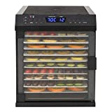 mewmewcat Disidratatore Alimentare in Acciaio Inox 11 Vassoi 480W Nero