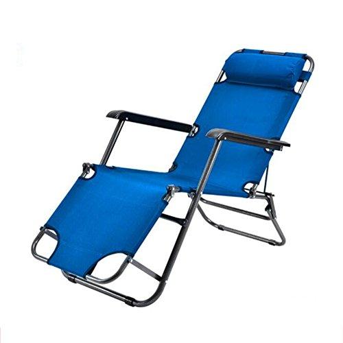 ZZ-aini Regolabile Reclinabile, con braccioli Sedia Terrazza All'aperto Cortile Spiaggia Giardino Campeggio gravità Zero-A 153cm