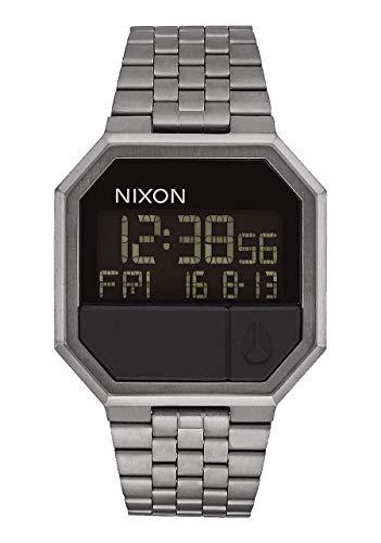 Nixon Reloj Digital para Hombre de japonés con Correa en Acero Inoxidable A158-632_Gunmetal