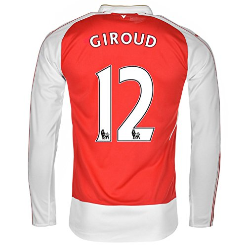 PUMA Giroud #12 Arsenal Home Jersey 2015/2016 Long Sleeve (2XL) Red, White