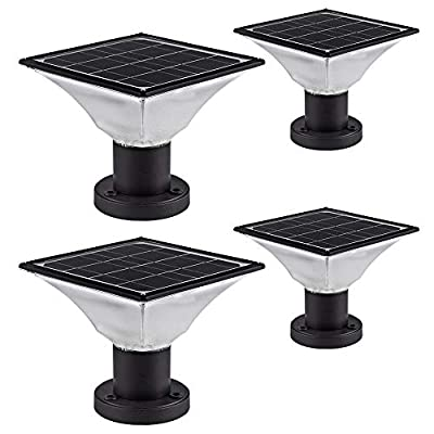 Solar Post Cap Lights Outdoor,Dusk to Dawn Auto On/Off Solar Powered Post Lights Fits Most Posts (2 Pack)