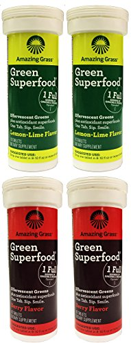 Amazing Grass Green Superfood Effervescent Water Enhancing Tablets (Pack of 4)